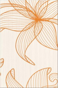 Centro Lorena orange flower B 30x45 Opoczno